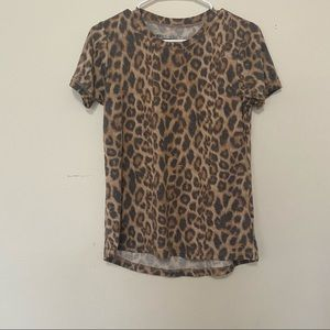 Prince Peter Leopard Print All over T Shirt XS